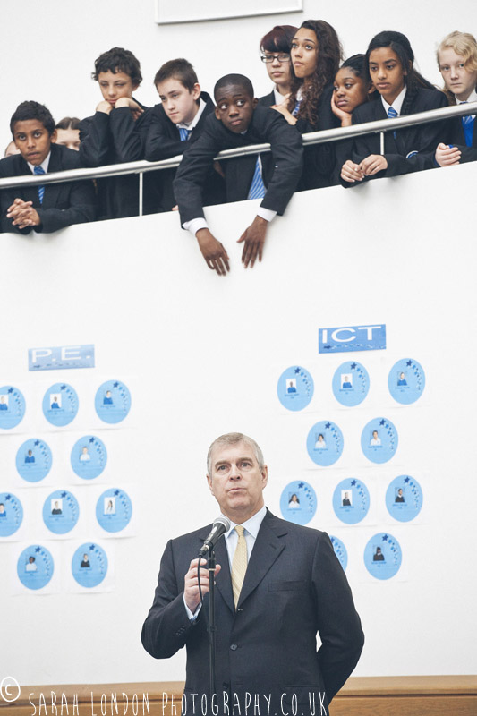 HRH Prince Andrew visits a Newham School www.sarahlondonphotography.co.uk