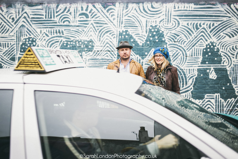 Brighton Graffiti engagement shoot