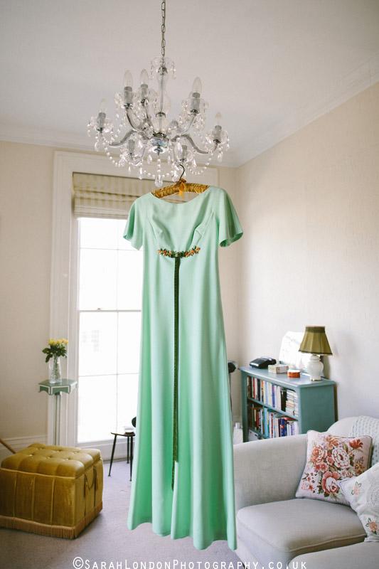 70's green dress