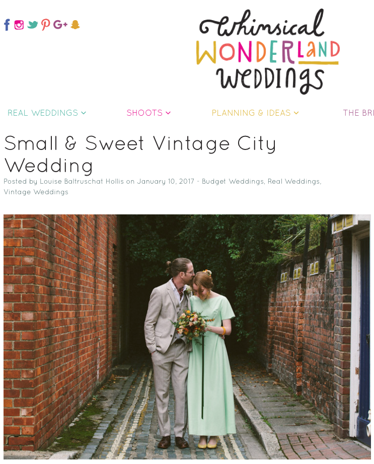 Intimate Retro Chic City Wedding – Featured on Whimsical Wonderland Weddings!