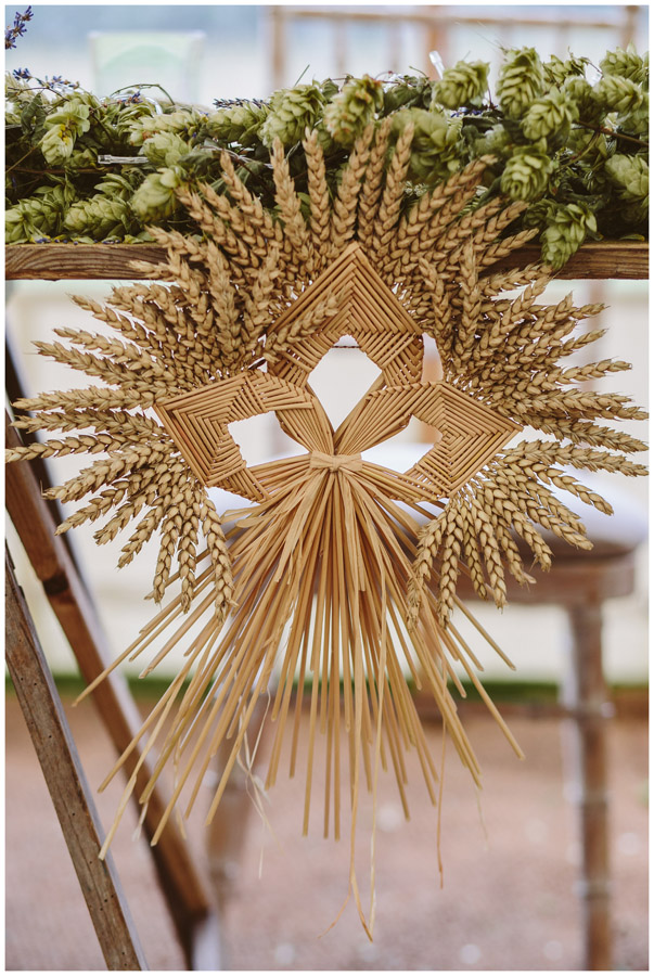 corn dolly table decoration