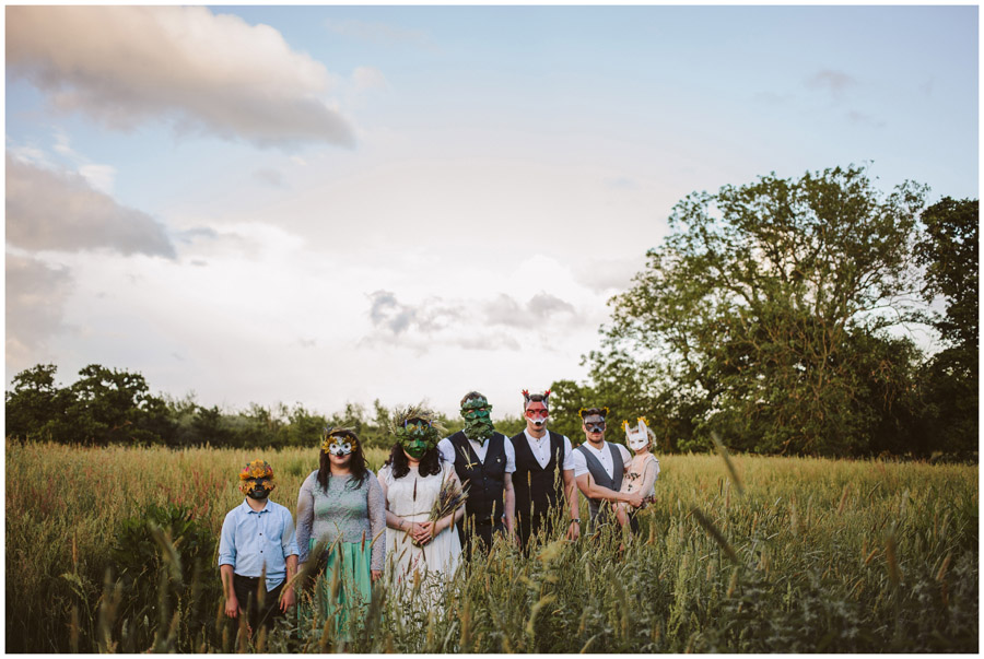 meadow wedding at church farm in Wiltshire